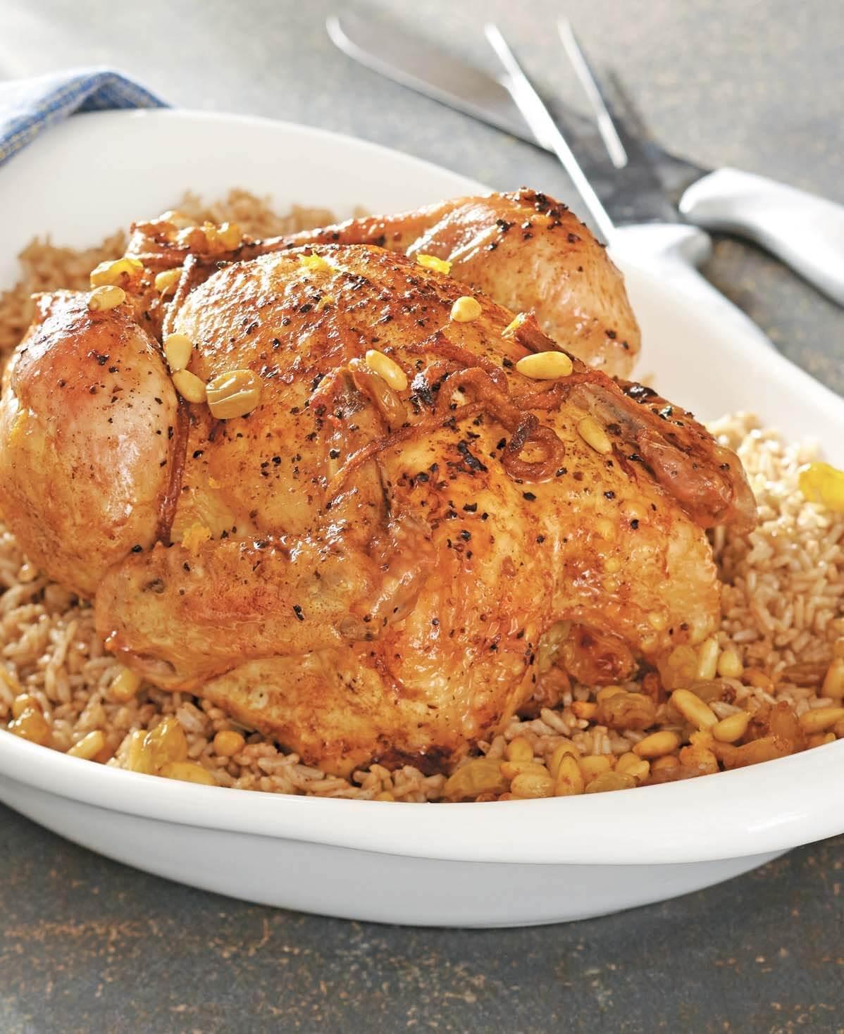 Jerusalem–Style Chicken with Rice, Golden Raisins, andPine Nuts/Dajaj Mashy