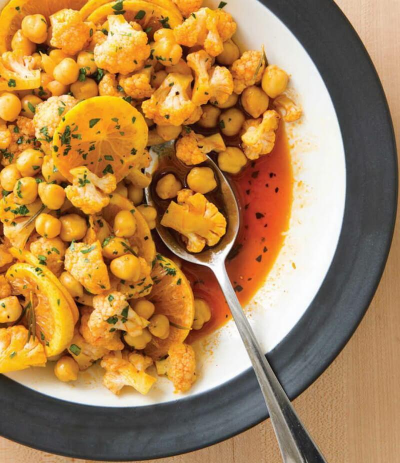 Marinated Cauliflower and Chickpeas with Saffron