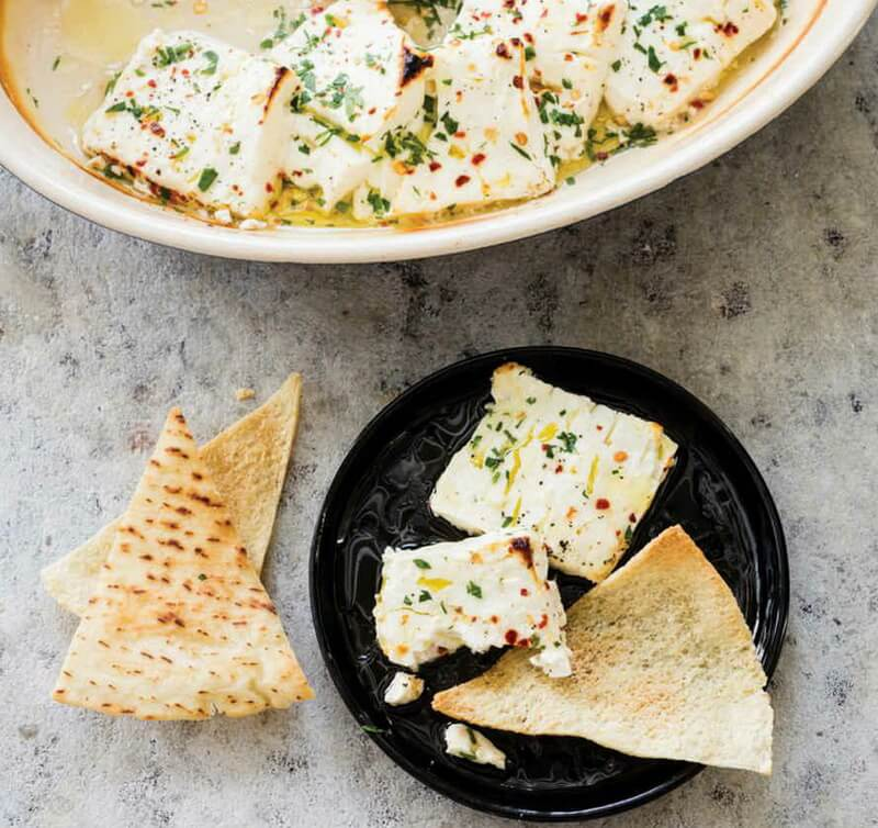 Broiled Feta with Olive Oil and Parsley