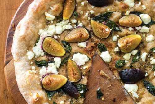 Whole-Wheat Pizza with Feta, Figs, and Honey