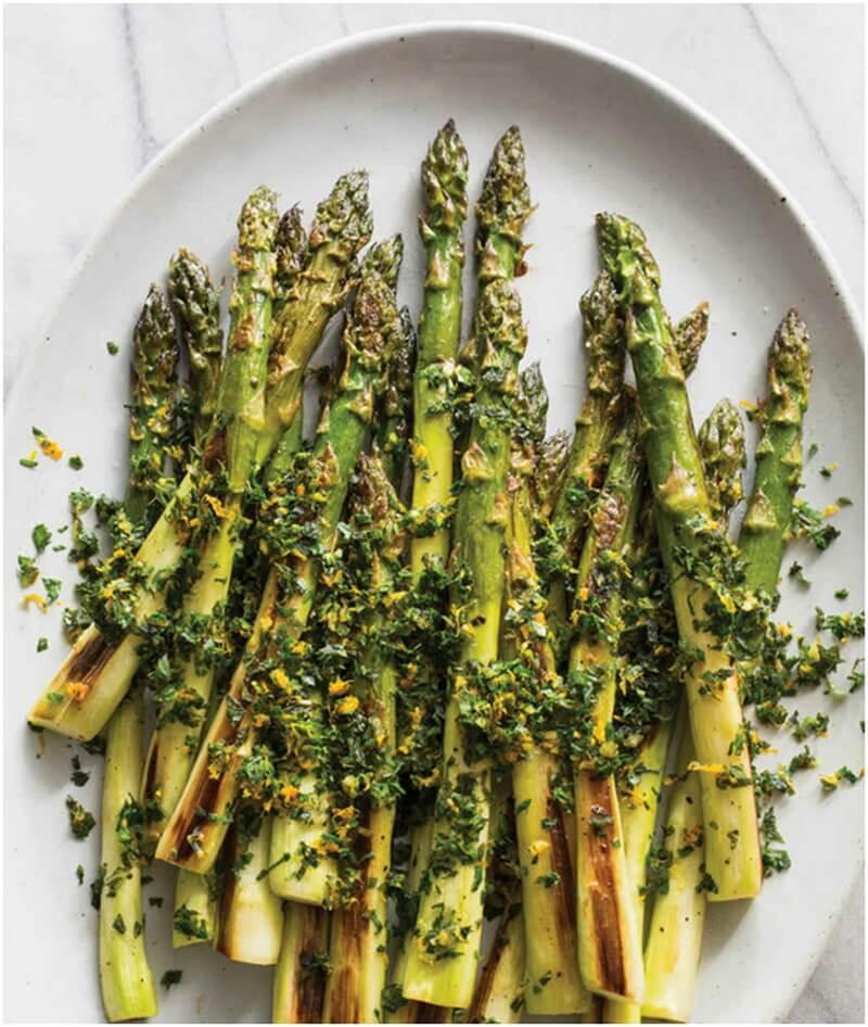 Roasted Asparagus with Mint-Orange Gremolata