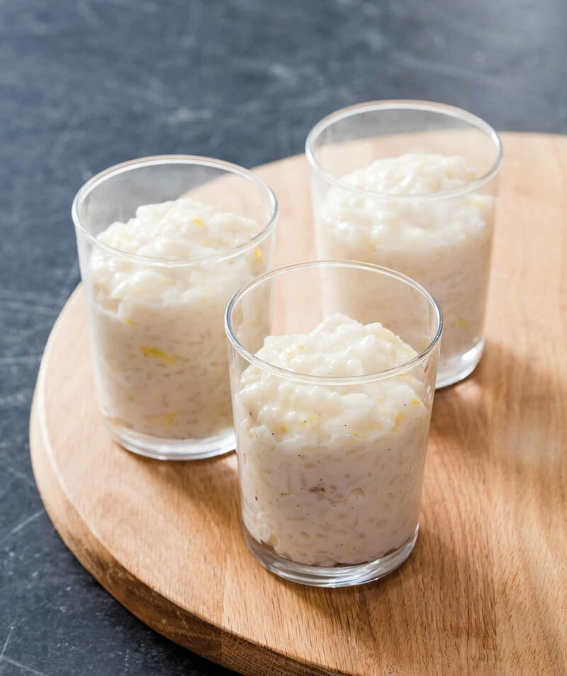 Greek Lemon Rice Pudding