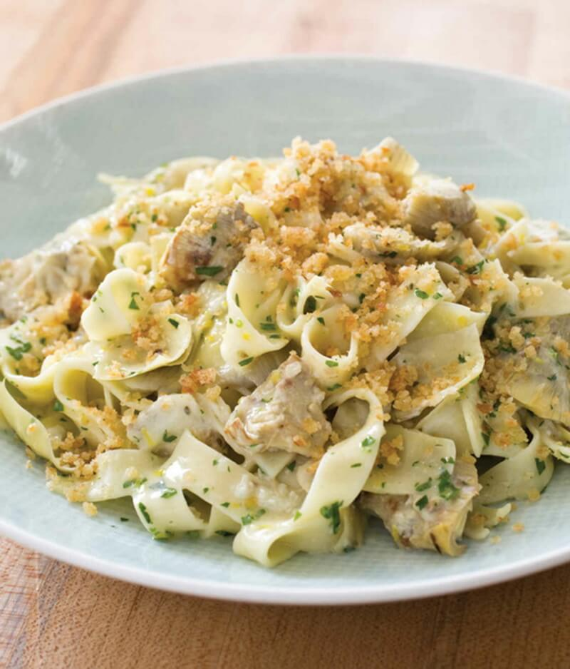 Tagliatelle with Artichokes and Parmesan