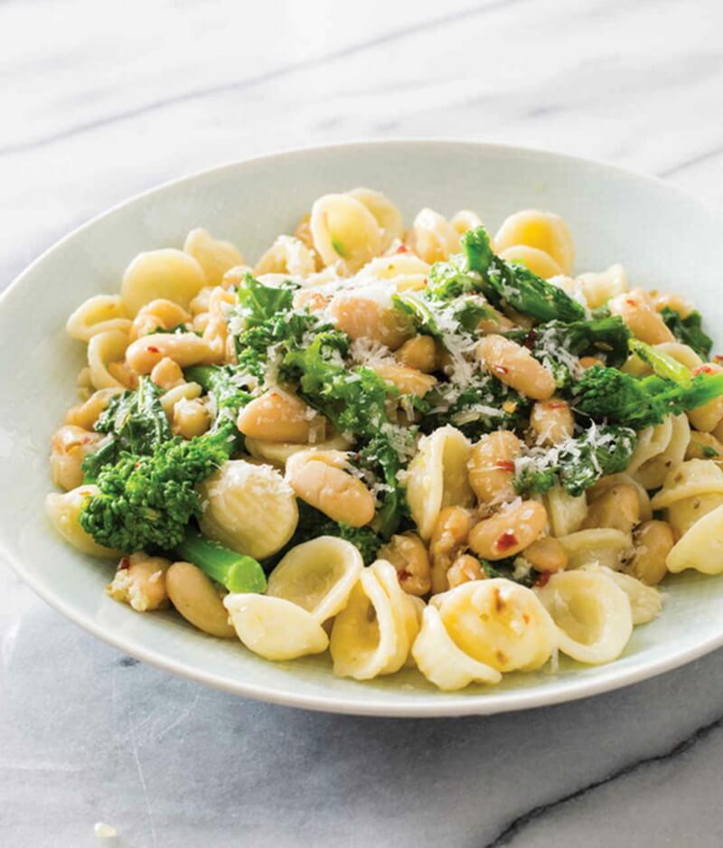 Orecchiette with Broccoli Rabe and White Beans