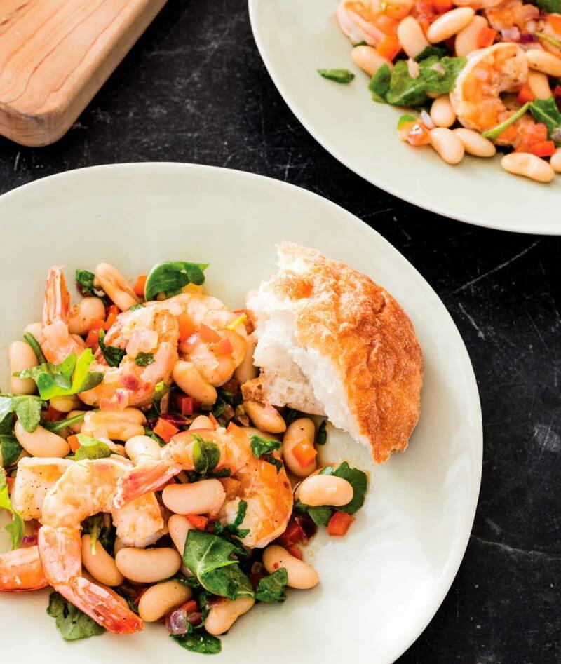 Shrimp with White Beans
