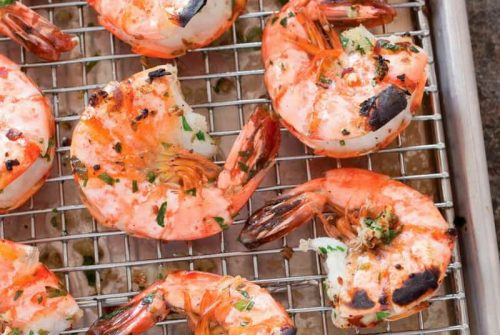 Garlicky Roasted Shrimp with Parsley and Anise