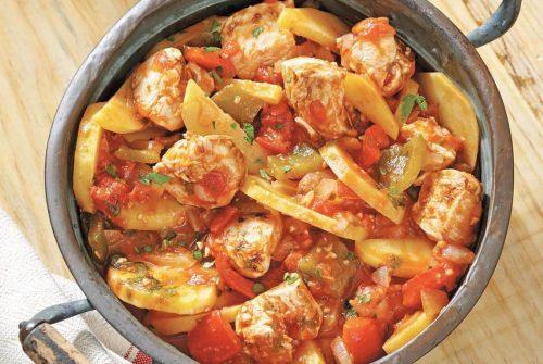Roman Tavola Calda–Style Roasted Chicken withPotatoes/Pollo al forno con patate