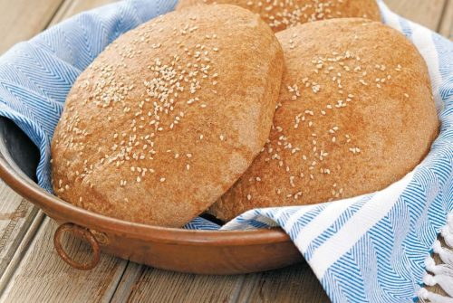 Whole–Wheat Country Moroccan Bread/Khubz Baladi