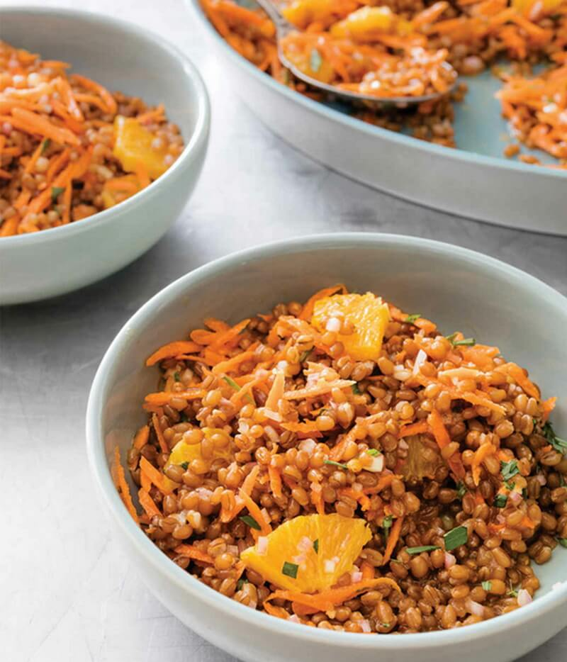 Wheat Berry Salad with Orange and Carrots