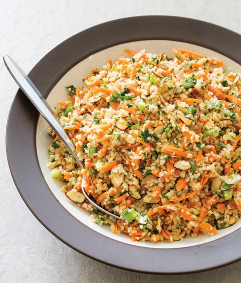 Bulgur Salad with Carrots and Almonds