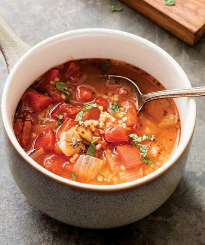 Turkish Tomato, Bulgur, and Red Pepper Soup