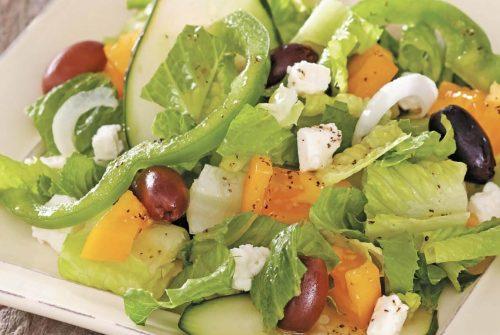 Cypriot Greengrocer's Salad with Feta/Choriatiki Salata