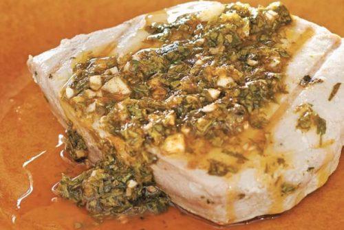 Moroccan–Style Grilled Tuna/Samak bil Chermoula